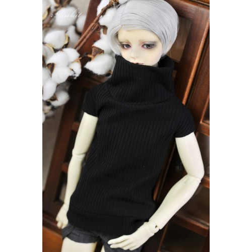 1/3 [Turtleneck sweater] HL042 1903 (Black)