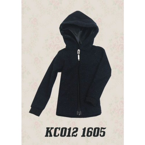 1/4 Plush hoodie coat - KC012 1605 (Boys & Girls)
