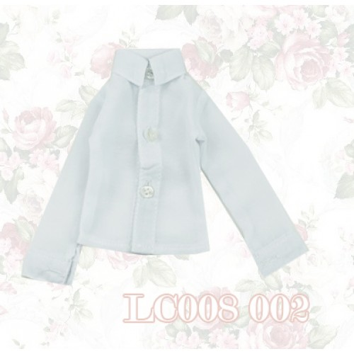 1/4 *Chiffon Plain L/S Shirt - LC008 002 White