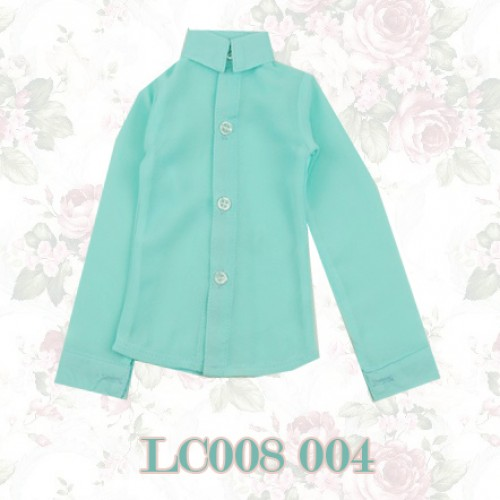1/3 *Chiffon Plain L/S Shirt - LC008 005 Tiffany blue