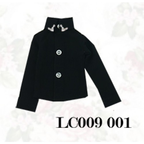 [Limited] 1/4* Chiffon+Stone Shirt - LC009 001 Black