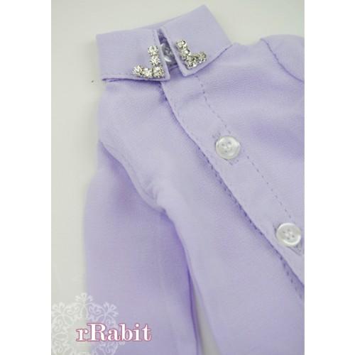 [Limited] 1/3* Chiffon+Stone Shirt - LC009 003 Lilac
