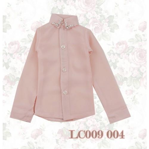 [Limited] 1/3* Chiffon+Stone Shirt - LC009 004 Peach Pink