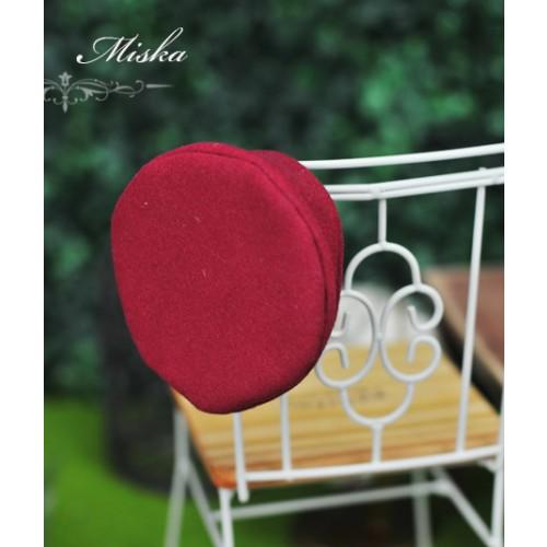 Miska - 1/3 & 1/4 Beret Hat - Red