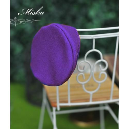 Miska - 1/3 & 1/4 Beret Hat - Violet