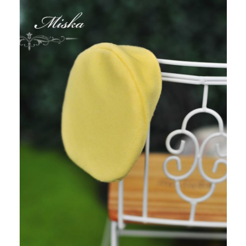 Miska - 1/3 & 1/4 Beret Hat - Yellow