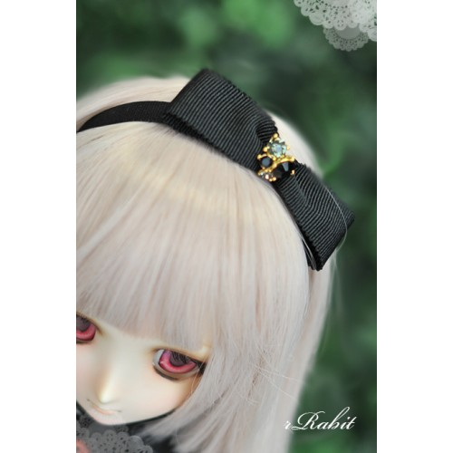 1/3 & 1/4 - Black star Ribbon headband (RB160501)