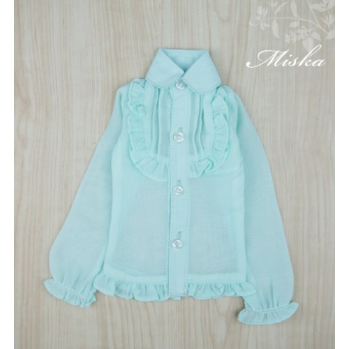 MISKA*1/4 Chiffon Lotus Shirt   - MSK010 003