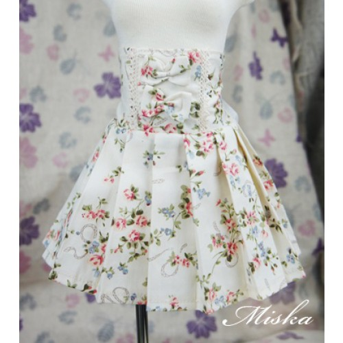 MISKA*1/3 High-waisted Pleated skirt - MSK012 006