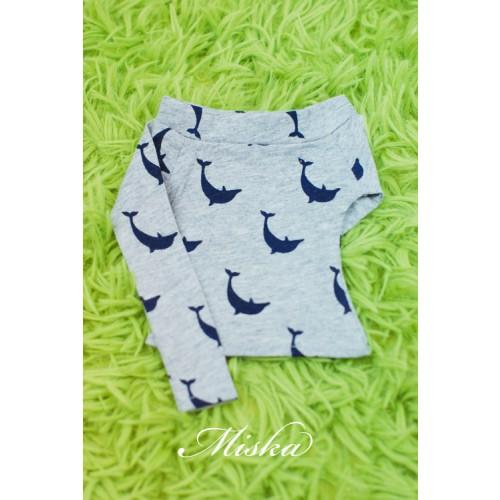 MISKA*1/3 Off-Shoulder T-shirt - MSK015 008