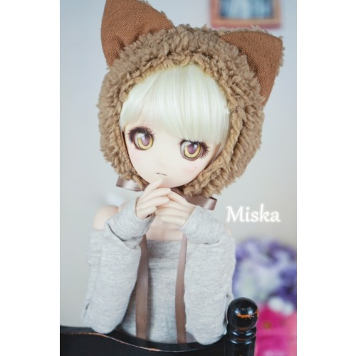 1/4 [Miska] Fuzzy Hat - MSK018 002 - Brown Fox
