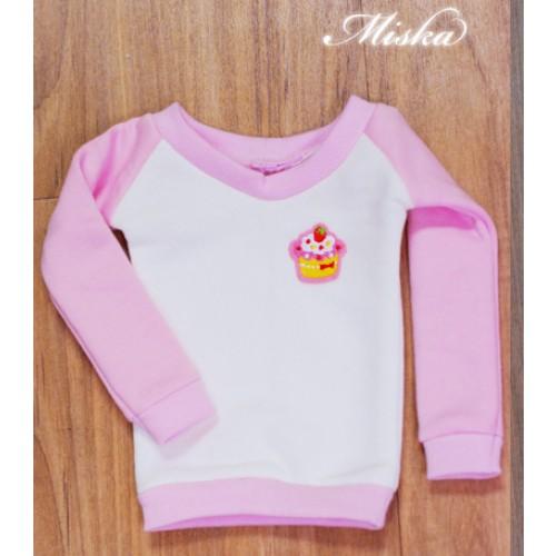 MISKA*1/3 Sweet Badge Sweatshirt  - MSK030 001