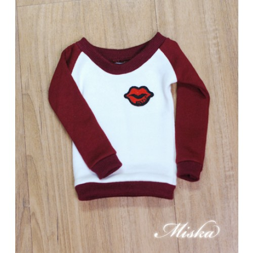 MISKA*1/3 Sweet Badge Sweatshirt  - MSK030 008