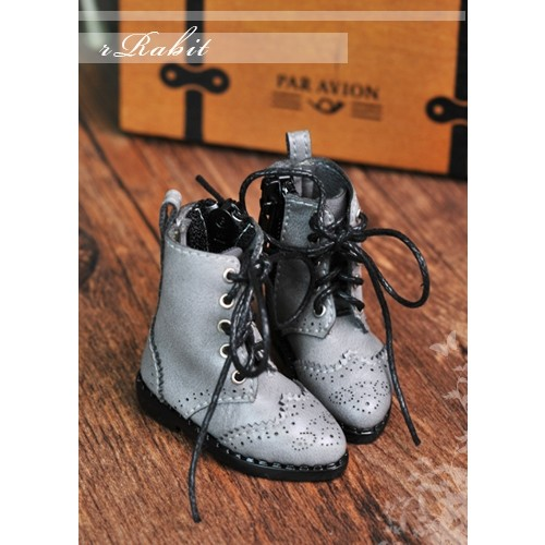 1/6 YOSD soom iMda 3.0 Antique Boots - RHL003 Light Grey