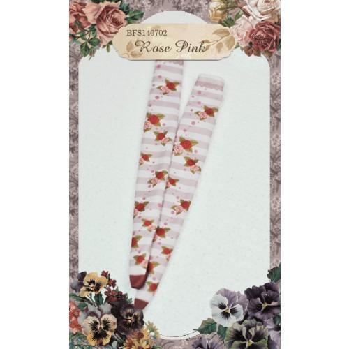 1/3 & 1/4 Socks BFS140702 Rose Pink