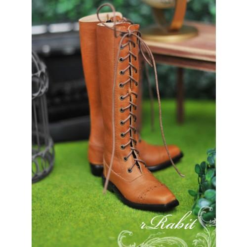 [Pre May]SD13&17 Boy - Cap-toe long boots - [RSH003] Muddy Brown