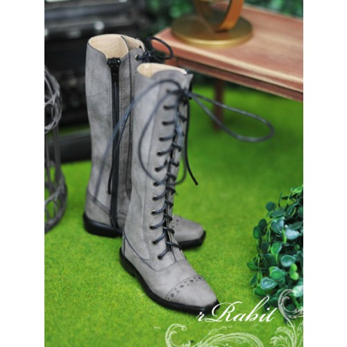 SD13&17 Boy - Cap-toe long boots - [RSH003] Dusty Grey
