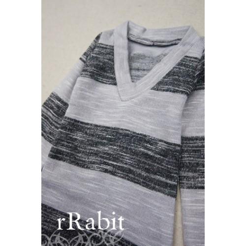 1/4 *L/S Deep V T-shirt* SH008 1608