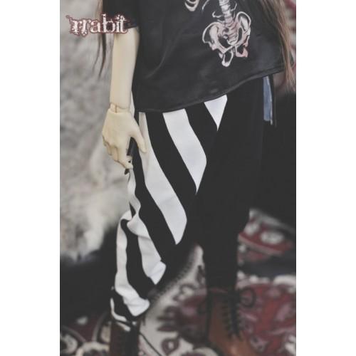 1/3 Gate One - Harem pants  SH035 1801 (Strip X Black)