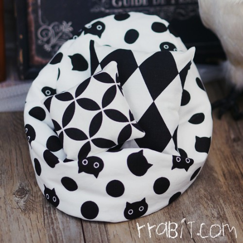All size ★ Beanbag Sofa - Linen Cat Spot +Cushion
