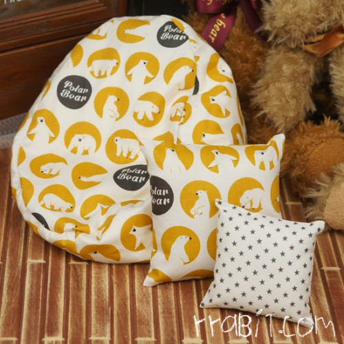 All size ★ Beanbag Sofa - Polar Bear -White +Cushion