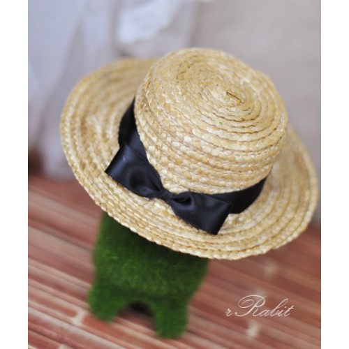 1/3 Straw Hat - 201411 - Black