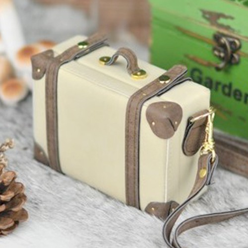 Suitcase - 13A.Antique Beige w/ Dusty Brown (for 1/3 & 1/4)
