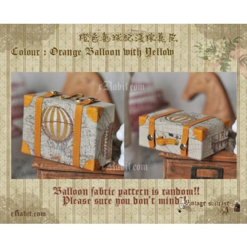 Suitcase ★ Orange Balloon X L.Brown + Belt