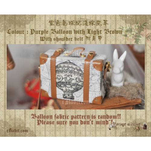 Suitcase ★ Purple Balloon X L.Brown + Belt