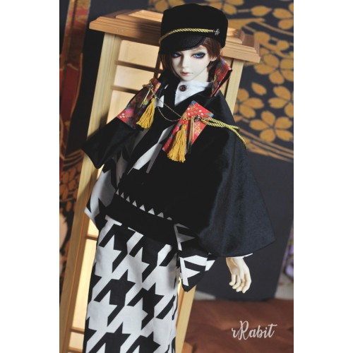 [Limited] 1/3Boy/SD17 - [斷花] - Kimono Set - Houndstooth