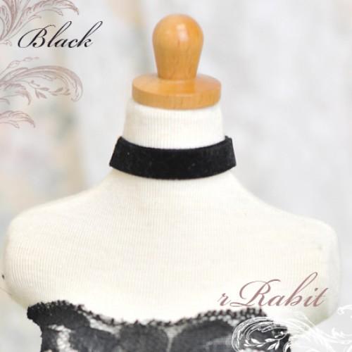 1/3 - Velvet Neckband - VN11 Black