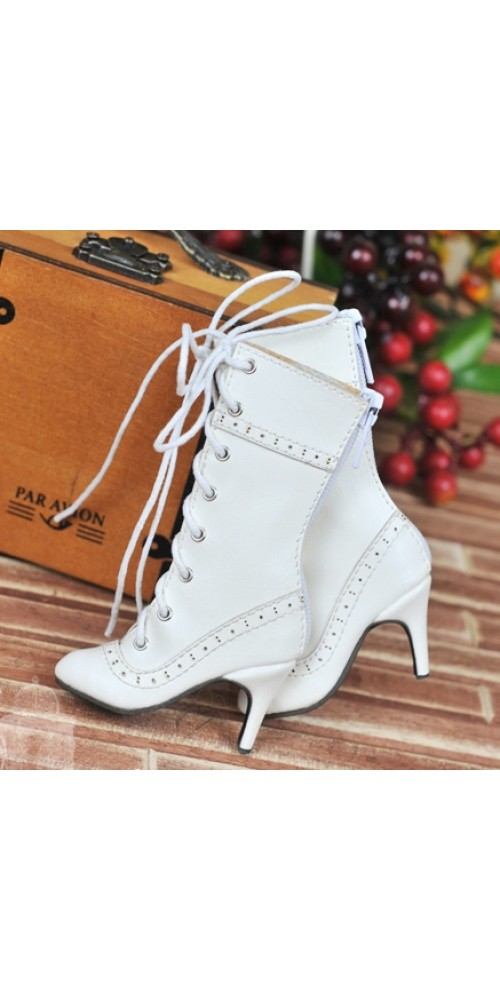 1/4 - MSD/MDD/MiniFee/AngelPhillia - Antique high heels pumps boot BLS008 - White