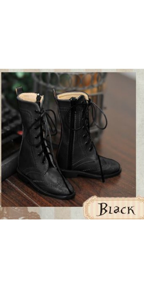 1/3 Girl SD10/13/16/DD Wingtips boots BLS005 - Black