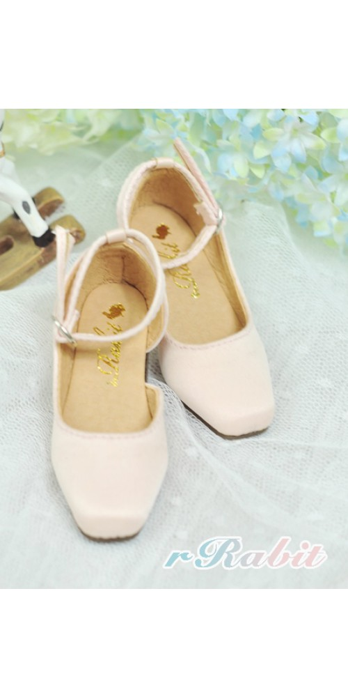 [Sept Pre] SD10/13 Girl BLS007 - Shell Pink - Square Mary Jane shoes