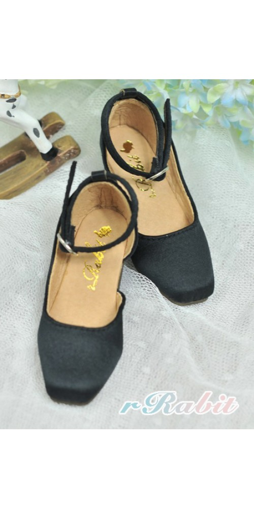 [Sept Pre] SD10/13 Girl BLS007 -  Black - Square Mary Jane shoes