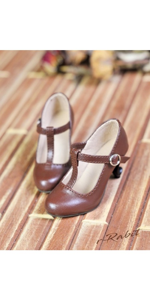 1/4 Highheels/MDD/AP/minifee/Unoa T-straps high heels [BLS009] - Candy Brown