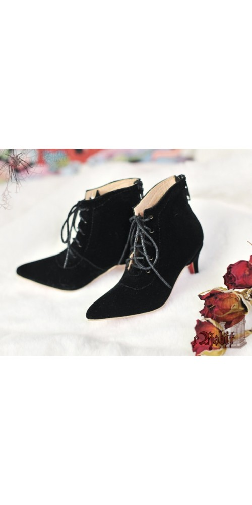 [Mar Pre] SD17/IP's Girl + Pointed Toe Ankle Boots [Coven Three] - BlackVelvet