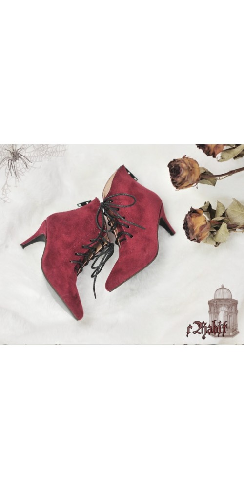 [Pre]1/4 HighHeels/MDD/AP/Minifee/Unoa+ Pointed Toe Ankle Boots [Coven Three] - Berry Velvet
