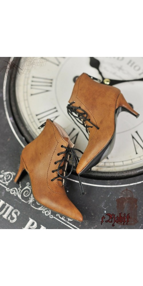 [Pre]1/4 HighHeels/MDD/AP/Minifee/Unoa+ Pointed Toe Ankle Boots [Coven Three] - OldBrown