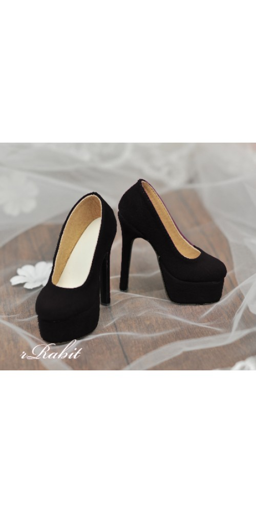 [Pre]1/3 Girl & SD16 [Coven Two]+[Suede Black] High heel Platform pumps shoes