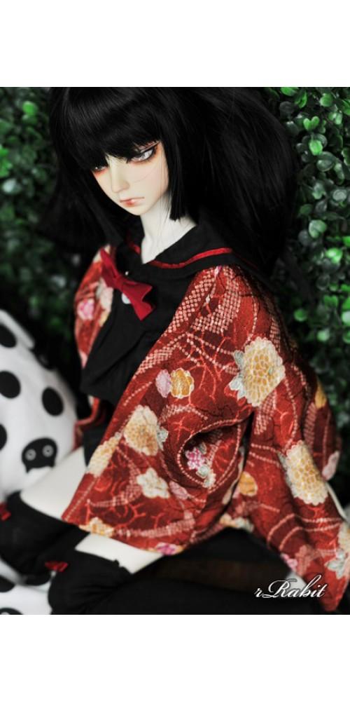 [Limited] 1/3 Haori Coat 羽織 - Red Lake