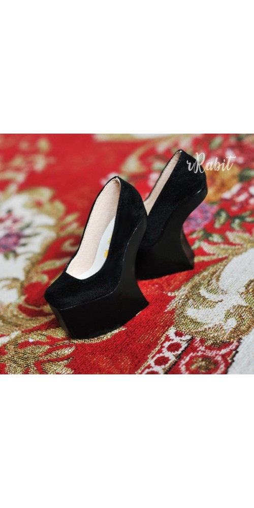 SD17/IP's Girl [Coven Four] Curve Platform High Heels - Black Velvet (Basic Ver.)