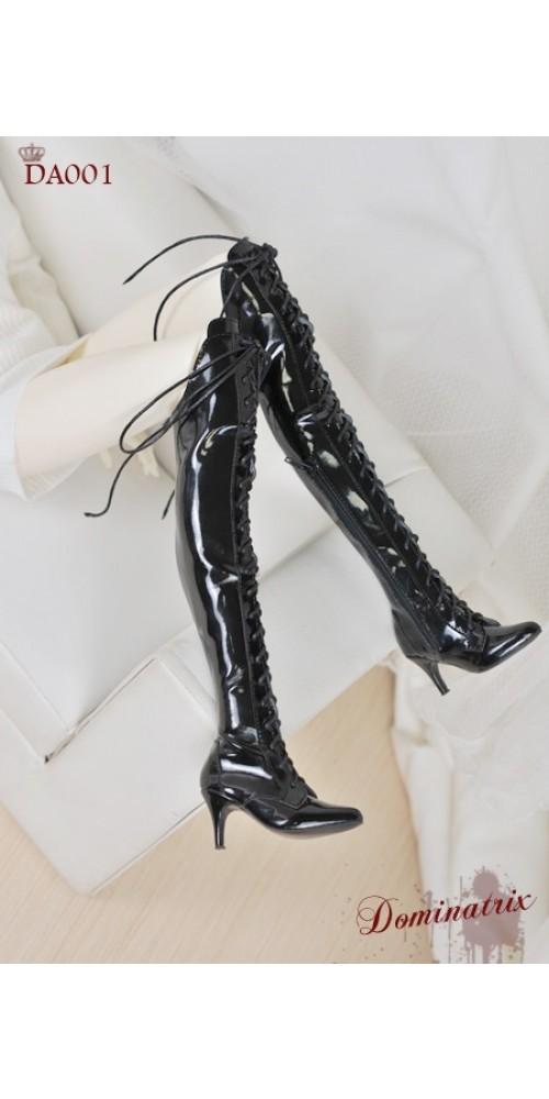 1/3 Girl/DD/SD16 Boot - Dominatrix - Long boots - DA001 Shine Black
