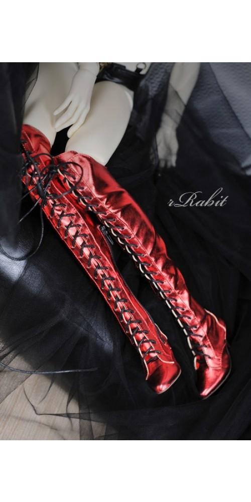 1/3 Girl/DD/SD16 Boot - Dominatrix - Long boots - DA001 Flash Red