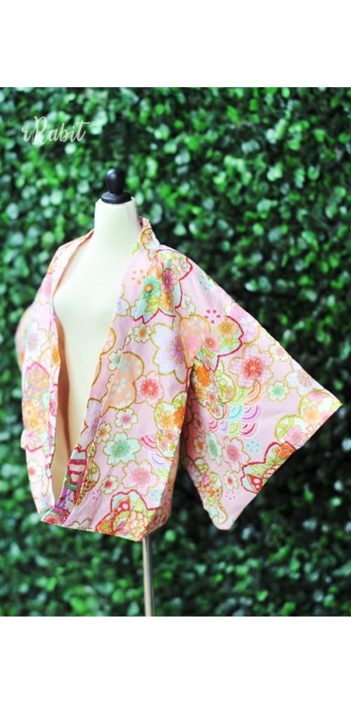 [Limited] 1/4 Haori羽織 - [万華の春] - Pink HA1902