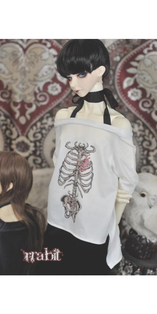1/3 Sternum Tee Shirt - SH036 1802 (White)