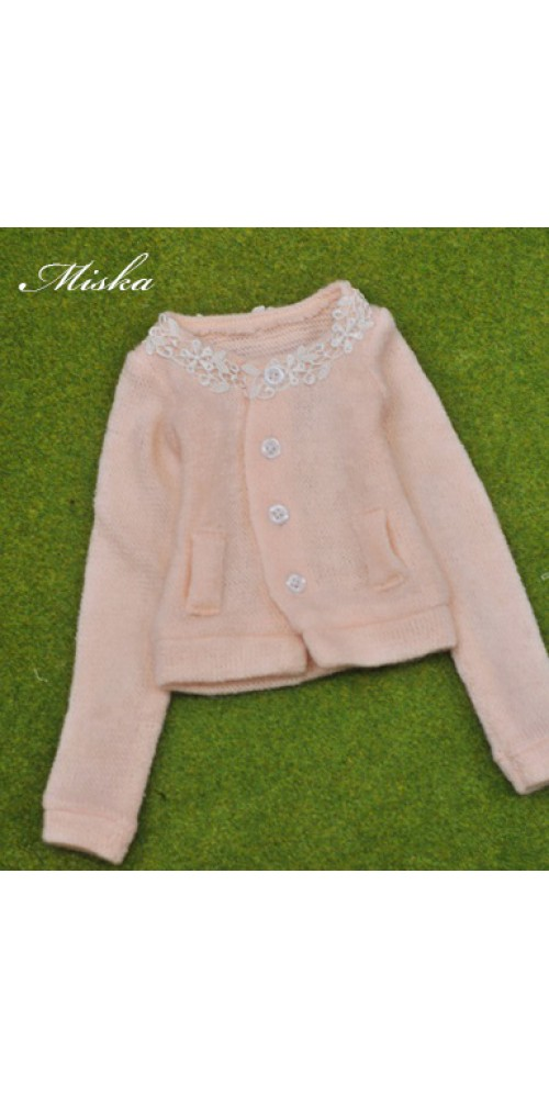 1/3 Round Neckline Sweater coat with lace MSK027 002