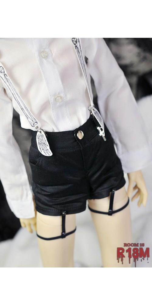 [R18M] 1/3 Boy Shorts w/ bind - RM006 003 (Black Fabric)