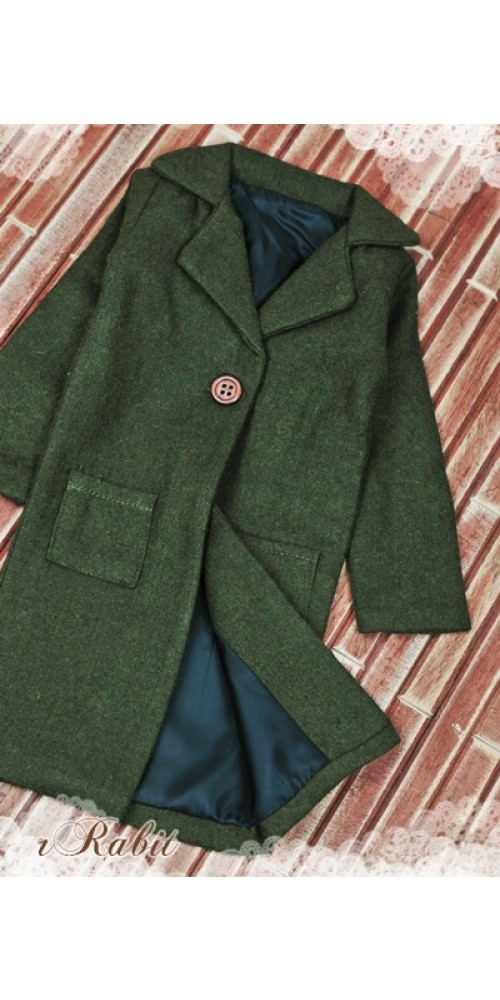 1/3 *Flannel Long Coat* SH003 1706 (Dark Olive)