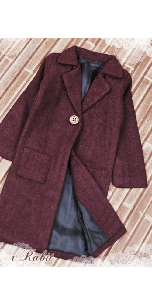 1/3 *Flannel Long Coat* SH003 1707 (Violet Red)